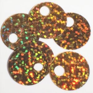 FINAL CLEARANCE Large Hole Sequins. Hologram Gold.  For knitting and crochet x 900. LAST PACK